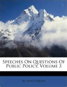 Speeches on questions of public policy volume 3 richard cobden