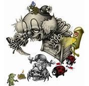 Evil Clown &amp Ladybugs Tattoo Design  Tattoobitecom