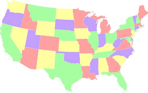 america map in color interesting map problems