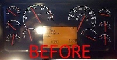 repair service volvo semi truck instrument cluster gauges dashboard rebuild ebay