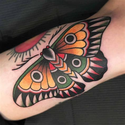 traditional moth tattoo design butterfly best ideas gallery