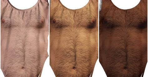 hairy bathing suit this bathing suit covered in chest hair is actually genius