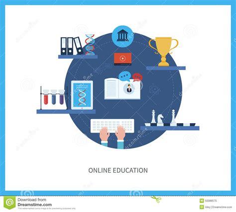 online education illustration flat design illustration online education and courses stock vector image 50088575