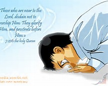 Anime Praying Muslim
