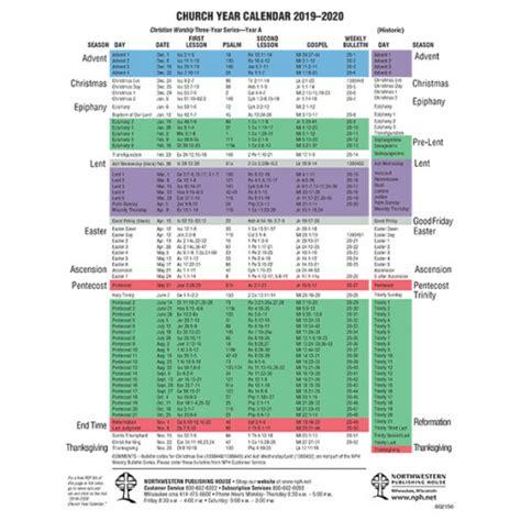 church year calendar
