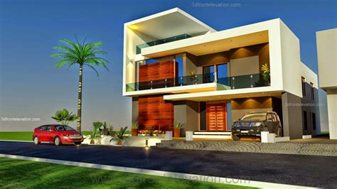 3d front elevation beautiful 1 kanal modern