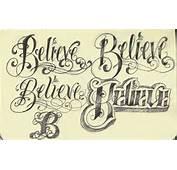 Of English Tattoo Fonts Cute Design