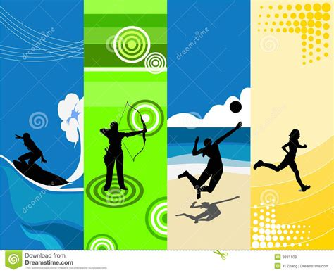 sports themed pictures 4 sports theme royalty free stock photos image 3831108
