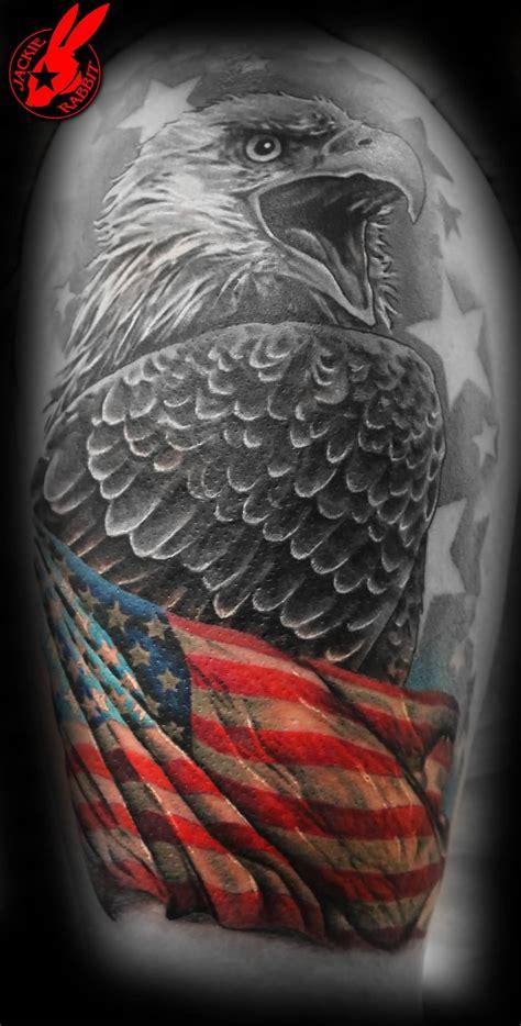 eagle tattoo half sleeve 35 patriotic tattoos on sleeve