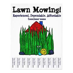 Free Lawn Mowing Flyer Template by Lawn Mowing Lawn Care Yard Word Custom Flyer Zazzle