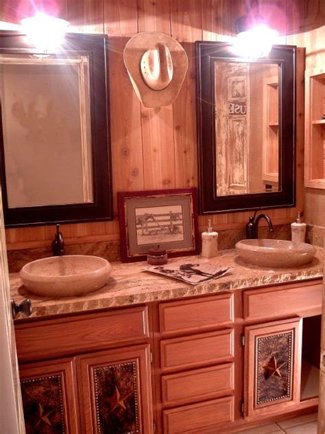 western themed bathroom ideas cowboy theme interior murals design installation
