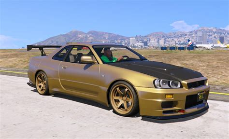 nissan gtr gta nissan skyline gt r bnr34 add on gta5 mods com