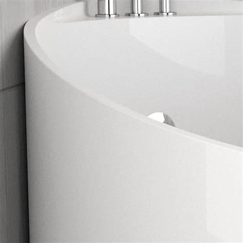 vasche da bagno glass vasca da bagno angolare rotonda mini white by glass design
