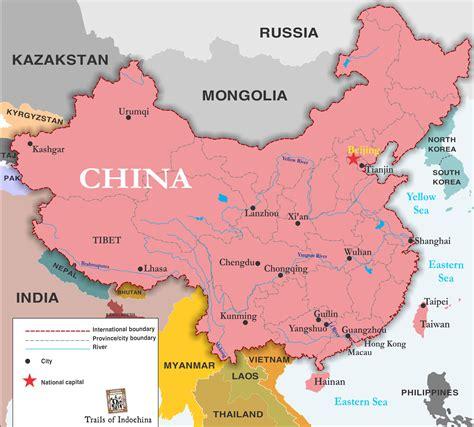 map china china map trails of indochina