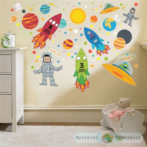 Childrens Bedroom Wall Decor Childrens Themed Wall Decor Room Stickers Sets Bedroom Decal Nursery Ebay