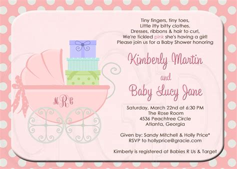 invites for baby shower ideas baby shower invite wording for girl theruntime com