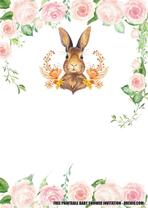 printable template  bunny   birthday