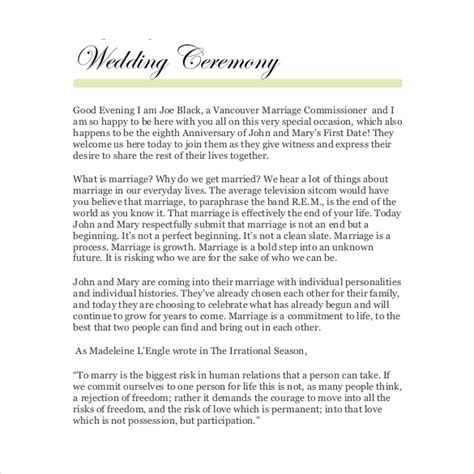 Wedding Ceremony Layout Template by Magnificent Wedding Ceremony Layout Template Ideas