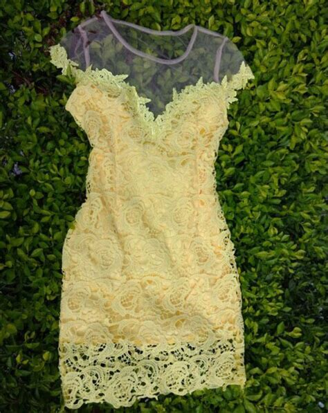 Lace Hook Flower Dress perspective hook flower lace stitching gauze dress