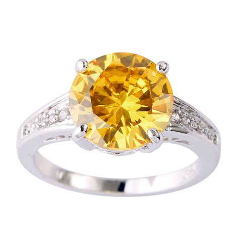Citrine Rings by Amoureux 3 8 Ct Citrine Silver Ring Nadine Jardin