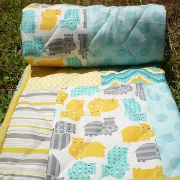 yellow and teal bedding baby quilt teal grey yellow from happyquilts on etsy