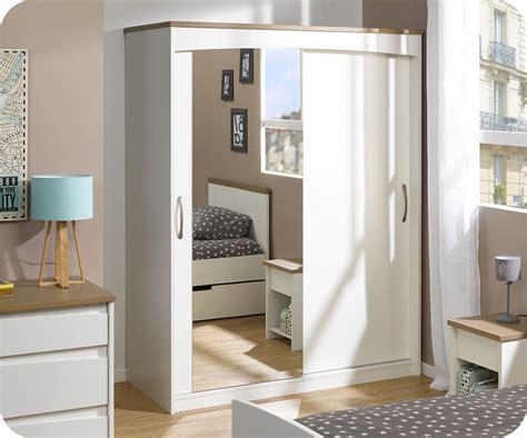 armoir chambre enfant armoire enfant island blanche 2 portes avec miroir