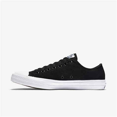Converse Chuck 2 Low Black White Hitam black and white nike shoes high tops style guru fashion glitz style unplugged