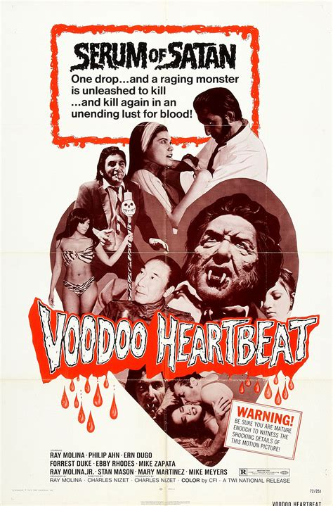 film monster seru voodoo heartbeat usa 1972 horrorpedia