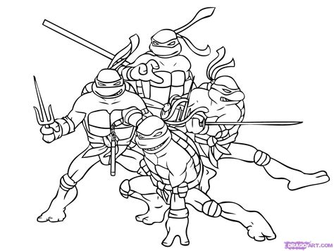 Teenage Mutant Ninja Turtles Coloring Pages Teenage Mutant Tmnt Colouring Pages