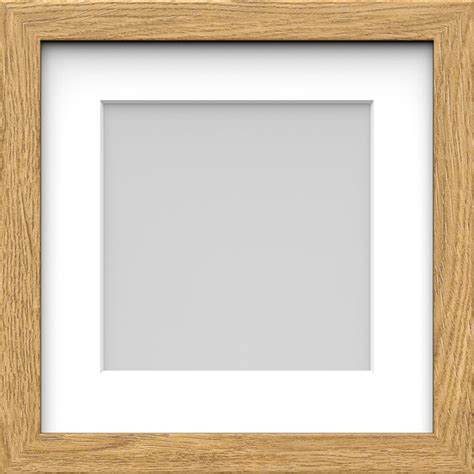 square picture frames box picture photo frame with mount wood effect black white oak square sizes ebay