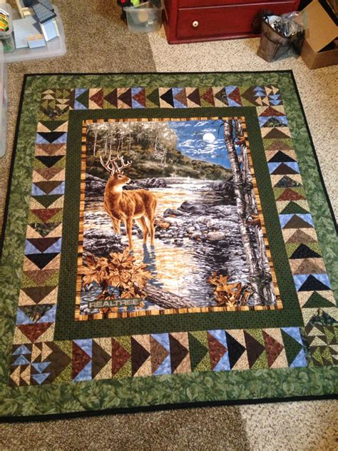 quilt pattern fabric panel another beautiful deer quilt panel surrounded by ting