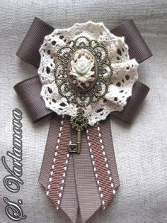 Snow Goose 2618 by Handmade Brooches Using Antique Jewelry And Lace Custom