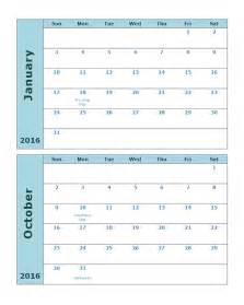 calendar template 2016 2016 monthly calendar template 20p free printable templates