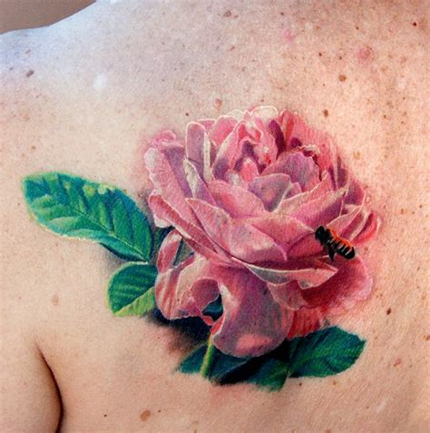 pink flower tattoo realistic flower the best flower tattoos