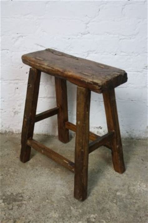 Antique Wooden Stool by Vintage Rustic Antique Wooden Stool Large