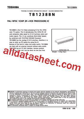 Tb1238bn tb1238bn datasheet pdf toshiba semiconductor