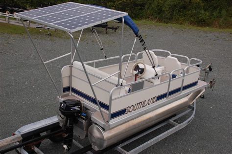 used electric powered pontoon boats electric pontoon boat