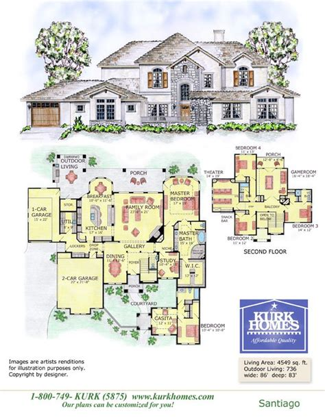 kurk homes featured plans two story floorplan