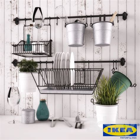 Country Modern Kitchen Ideas by 3d Models Other Kitchen Accessories Ikea Fintorp