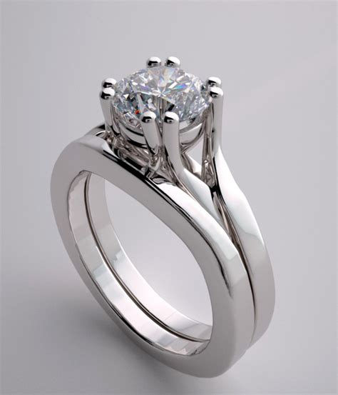 engagement ring setting split shank design with matching