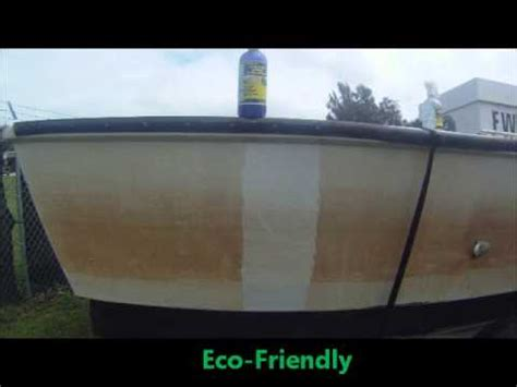 remove rust  yellow stains  boat youtube