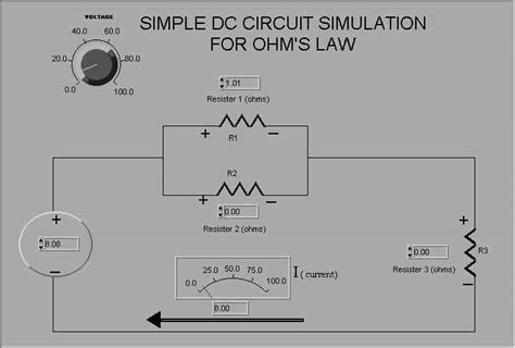 dc circuits resistors in parallel simple labview dc circuit simulation with parallel resistors overview docs