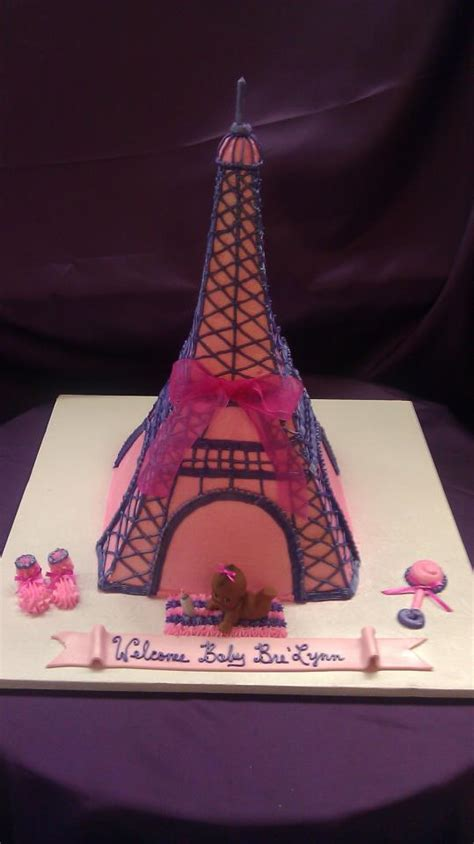 Eiffel Tower Baby Shower Cakes herman s bakery and deli baby shower decorated cake galley