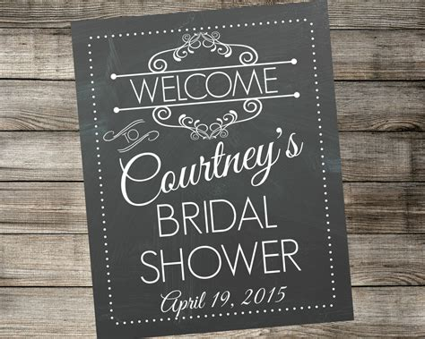 Welcome To Bridal Shower Sign by Personalized Bridal Shower Welcome Sign By