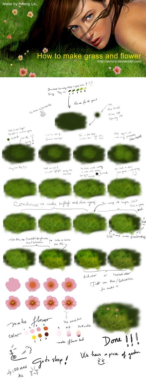 tutorial photoshop grass 17 best images about digital painting illustration and