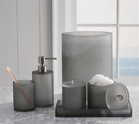 Serra Mix And Match Bath Accessories Gray Pottery Barn Matching Bathroom Accessories