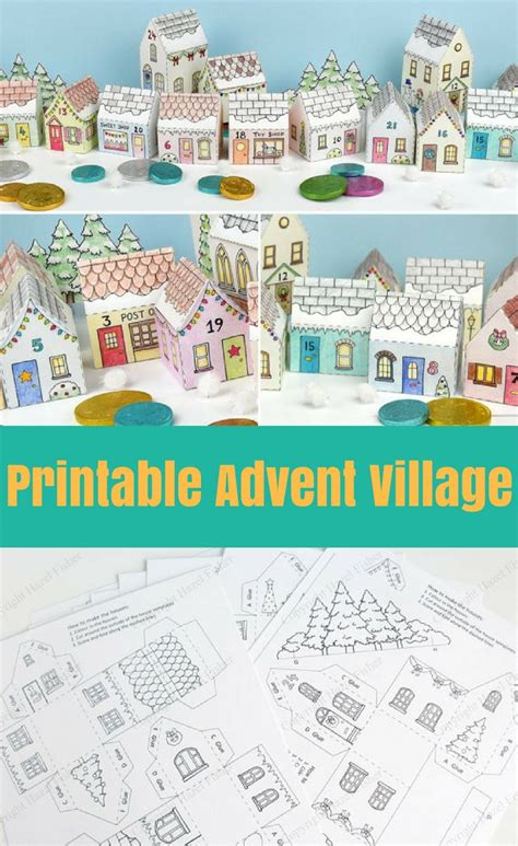 printable advent calendar village 1156 best bible story paper crafts sunday school class