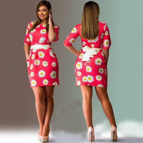 elegante floral impress 227 o mulheres vestidos mais tamanhos