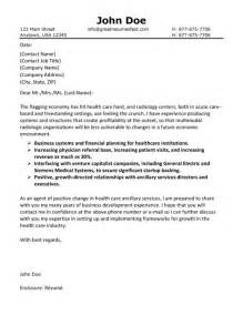 health care cover letter exle