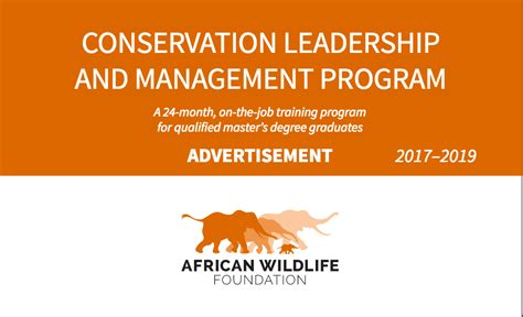 Of Nairobi Mba Project Guidelines by Awf Conservation Leadership And Management Program 2017